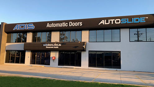 ADIS automatic sliding doors office in Sydney