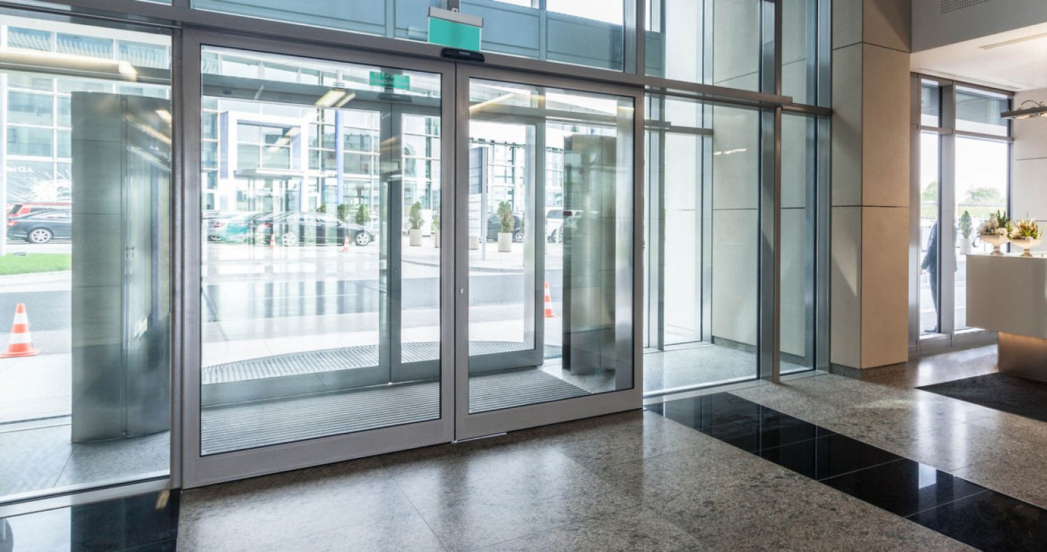 Aluminium Framed Commercial Automatic Sliding Door